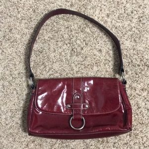 Wilson's Leather Red Shoulder Purse